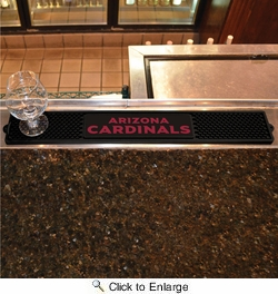 "Fan Mats 20511  NFL - Arizona Cardinals 3.25"" x 24"" Drink Mat"