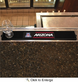 "Fan Mats 20526  University of Arizona Wildcats 3.25"" x 24"" Drink Mat"