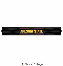 "Fan Mats 20535  Arizona State University Sun Devils 3.25"" x 24"" Drink Mat"