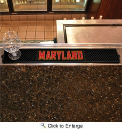 "Fan Mats 20550  University of Maryland Terrapins 3.25"" x 24"" Drink Mat"