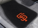 Fan Mats 20576  MLB - San Francisco Giants 2-pc Embroidered Car Mat Set