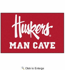 Fan Mats 20670  University of Nebraska Cornhuskers 5' x 8' Man Cave Ulti-Mat