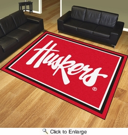 Fan Mats 20675  University of Nebraska Cornhuskers 8' x 10' Area Rug