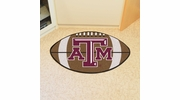 "Fan Mats 209  Texas A&M University Aggies 20.5"" x 32.5"" Football Shaped Area Rug"