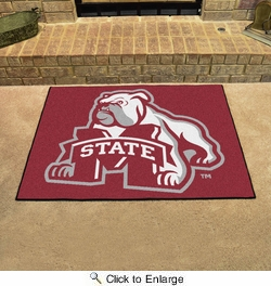 "Fan Mats 2091  MSU - Mississippi State University Bulldogs 33.75"" x 42.5"" All-Star Series Area Rug / Mat"