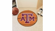 "Fan Mats 210  Texas A&M University Aggies 27"" Diameter Basketball Shaped Area Rug"