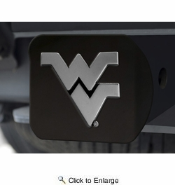 Fan Mats 21054  West Virginia University Mountaineers Hitch Cover - Black