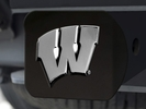 Fan Mats 21055  University of Wisconsin Badgers Hitch Cover - Black