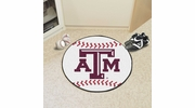 "Fan Mats 211  Texas A&M University Aggies 27"" Diameter Baseball Shaped Area Rug"