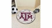 "Fan Mats 212  Texas A&M University Aggies 27"" Diameter Soccer Ball Shaped Area Rug"