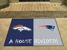 "Fan Mats 21257  NFL - Denver Broncos vs New England Patriots 33.75"" x 42.5"" House Divided Mat"