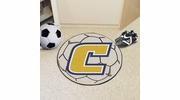 """Fan Mats 2183  UTC - University of Tennessee at Chattanooga Mocs 27"""" Diameter Soccer Ball Shaped Area Rug"""