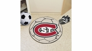 "Fan Mats 2279  St. Cloud State University Huskies 27"" Diameter Soccer Ball Shaped Area Rug"