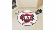 "Fan Mats 2280  St. Cloud State University Huskies 27"" Diameter Baseball Shaped Area Rug"