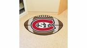 "Fan Mats 2282  St. Cloud State University Huskies 20.5"" x 32.5"" Football Shaped Area Rug"