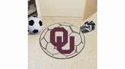 "Fan Mats 2386  OU - University of Oklahoma Sooners 27"" Diameter Soccer Ball Shaped Area Rug"