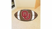 "Fan Mats 2389  OU - University of Oklahoma Sooners 20.5"" x 32.5"" Football Shaped Area Rug"