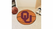"Fan Mats 2393  OU - University of Oklahoma Sooners 27"" Diameter Basketball Shaped Area Rug"