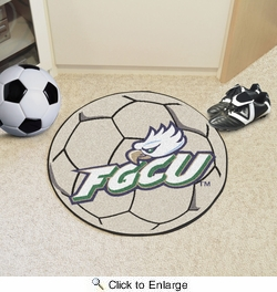 "Fan Mats 2601  FGCU - Florida Gulf Coast University Eagles 27"" Diameter Soccer Ball Shaped Area Rug"