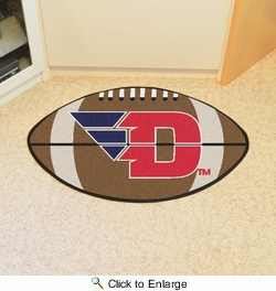 "Fan Mats 263  UD - University of Dayton Flyers 20.5"" x 32.5"" Football Shaped Area Rug"