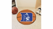 "Fan Mats 2630  Duke University Blue Devils 27"" Diameter Basketball Shaped Area Rug"