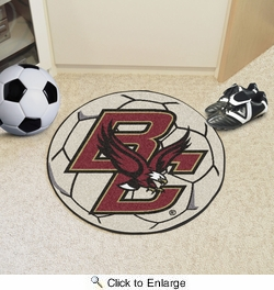 "Fan Mats 2656  BC - Boston College Eagles 27"" Diameter Soccer Ball Shaped Area Rug"