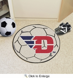 "Fan Mats 266  UD - University of Dayton Flyers 27"" Diameter Soccer Ball Shaped Area Rug"