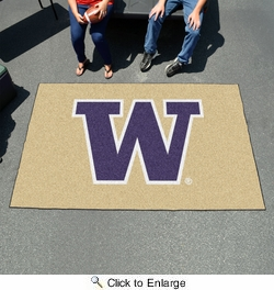 Fan Mats 2686  UW - University of Washington Huskies 5' x 8' Ulti-Mat Area Rug / Mat
