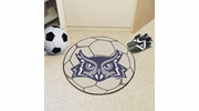 "Fan Mats 2692  Rice University Owls 27"" Diameter Soccer Ball Shaped Area Rug"