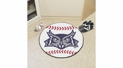 "Fan Mats 2693  Rice University Owls 27"" Diameter Baseball Shaped Area Rug"