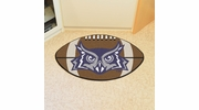 "Fan Mats 2694  Rice University Owls 20.5"" x 32.5"" Football Shaped Area Rug"
