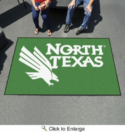 Fan Mats 2796  UNT - University of North Texas Mean Green 5' x 8' Ulti-Mat Area Rug / Mat