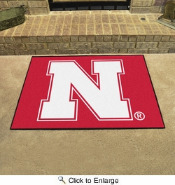 "Fan Mats 2874  NU - University of Nebraska Cornhuskers 33.75"" x 42.5"" All-Star Series Area Rug / Mat"