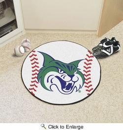 "Fan Mats 2945  GCSU - Georgia College & State University Bobcats 27"" Diameter Baseball Shaped Area Rug"