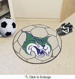 "Fan Mats 2949  GCSU - Georgia College & State University Bobcats 27"" Diameter Soccer Ball Shaped Area Rug"