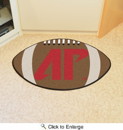 "Fan Mats 296  APSU - Austin Peay State University Governors 20.5"" x 32.5"" Football Shaped Area Rug"