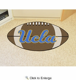 "Fan Mats 2970  UCLA - University of California, Los Angeles Bruins 20.5"" x 32.5"" Football Shaped Area Rug"