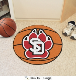 "Fan Mats 3040  USD - University of South Dakota Coyotes 27"" diameter Basketball Mat"