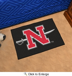"Fan Mats 3068  Nicholls State University Colonels 19"" x 30"" Starter Series Area Rug / Mat"