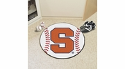 "Fan Mats 3090  SU - Syracuse University Orange 27"" Diameter Baseball Shaped Area Rug"