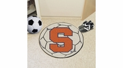"Fan Mats 3093  SU - Syracuse University Orange 27"" Diameter Soccer Ball Shaped Area Rug"