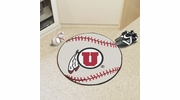 "Fan Mats 3125  University of Utah Utes 27"" Diameter Baseball Shaped Area Rug"