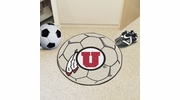 "Fan Mats 3129  University of Utah Utes 27"" Diameter Soccer Ball Shaped Area Rug"