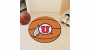 "Fan Mats 3130  University of Utah Utes 27"" Diameter Basketball Shaped Area Rug"