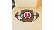 "Fan Mats 3132  University of Utah Utes 20.5"" x 32.5"" Football Shaped Area Rug"