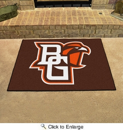"Fan Mats 318  Bowling Green State University Falcons 33.75"" x 42.5"" All Star Mat"