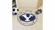 """Fan Mats 3271  BYU - Brigham Young University Cougars 27"""" Diameter Soccer Ball Shaped Area Rug"""