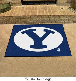 """Fan Mats 3273  BYU - Brigham Young University Cougars 33.75"""" x 42.5"""" All-Star Series Area Rug / Mat"""