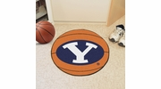 """Fan Mats 3274  BYU - Brigham Young University Cougars 27"""" Diameter Basketball Shaped Area Rug"""
