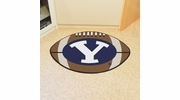 """Fan Mats 3276  BYU - Brigham Young University Cougars 20.5"""" x 32.5"""" Football Shaped Area Rug"""